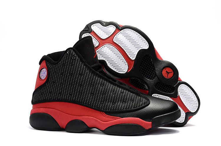 Jordans For Cheap Wholesale Nike Air Jordan 13 Black Red Closer Look