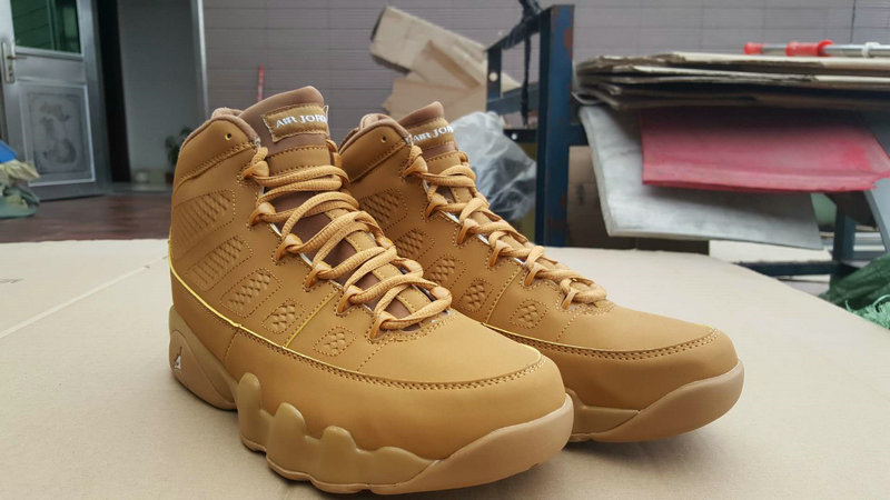 Jordans For Cheap Wholesale Nike Air Jordan 9 Wheat Yellow