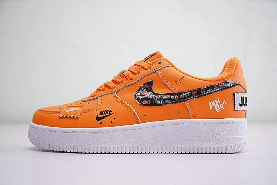Wholesale Just do it Nike Air Force 1 Low Orange Black White