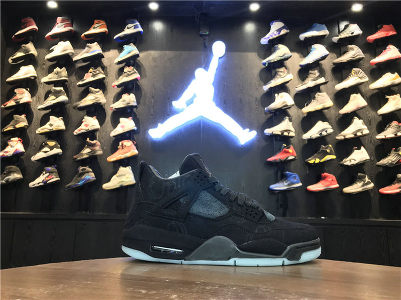 2018 Cheap Wholesale KAWS x Air Jordan 4 Black 930155-001