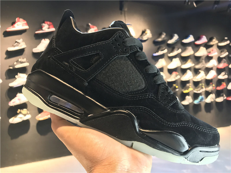 2018 Cheap Wholesale KAWS x Air Jordan 4 Cool Black
