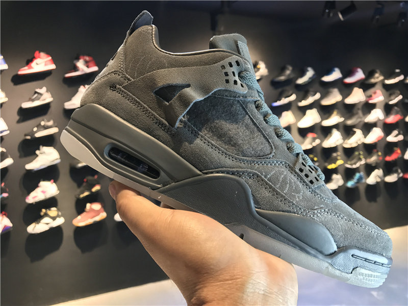 2018 Cheap Wholesale KAWS x Air Jordan 4 Cool Grey 930155-003