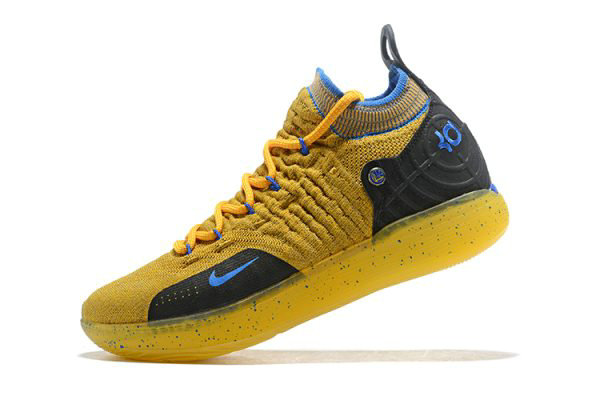 Cheap Wholesale Kevin Durants Nike KD 11 Yellow Black-Blue Shoes Free Shipping