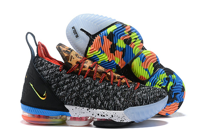 Wholesale Cheap Kids 2019 Cheap Nike LeBron 16 1 Thru 5 Multi-Color-Multi-Color BQ6580-900