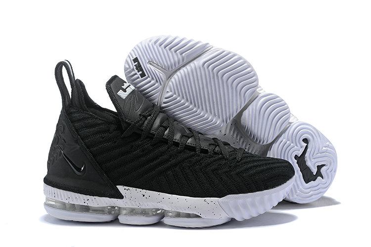 Wholesale Cheap Kids 2019 Cheap Nike LeBron 16 Black White