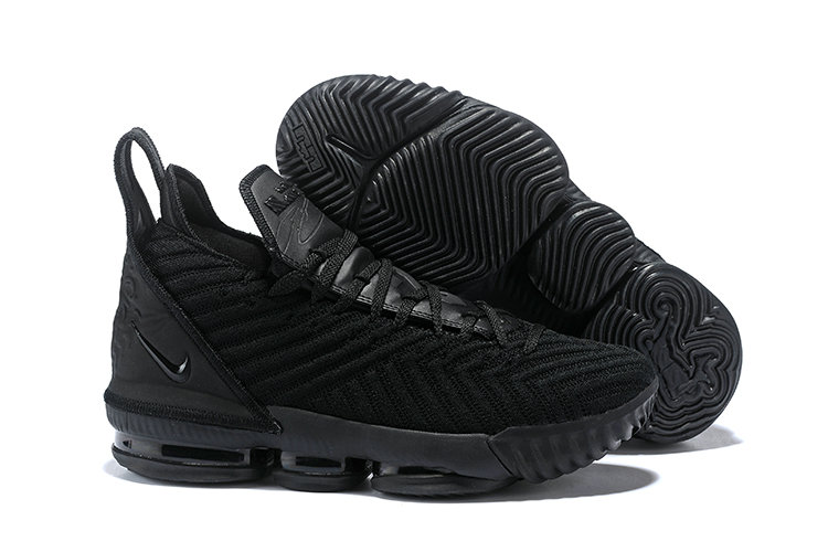 Wholesale Cheap Kids 2019 Cheap Nike LeBron 16 Triple Black