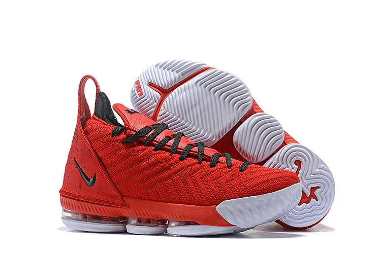 Wholesale Cheap Kids 2019 Cheap Nike Lebron 16 Basketball Shoe Mens Red Black White