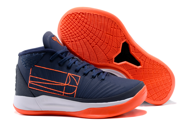 Kobe Sneakers Cheap Wholesale Nike Kobe A.D Mid Orange Navy Blue White