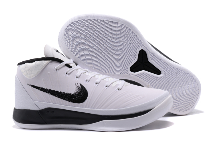 Kobe Sneakers Cheap Wholesale Nike Kobe A.D Mid White Black