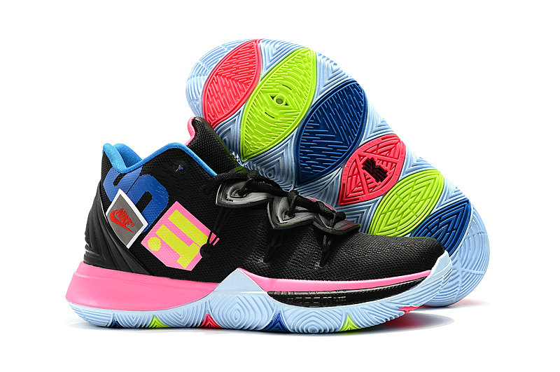 Wholesale Cheap Kyrie Irvings For Womens Nike Kyrie 5 Black Colorful