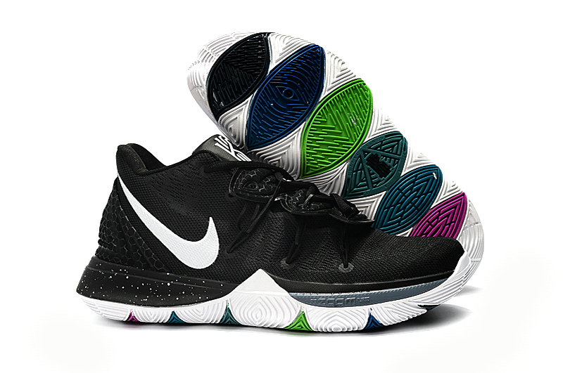Wholesale Cheap Kyrie Irvings For Womens Nike Kyrie 5 Black White