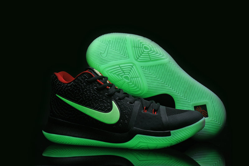 Kyrie Sneakers Cheap Wholesale Nike Kyrie 3 Black Red Green Glow In The Dark