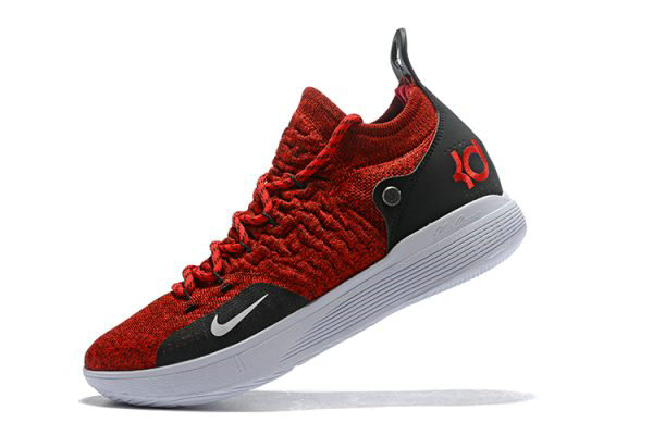 Cheap Wholesale Latest Nike KD 11 University Red Black-White Mens Basketball Shoes