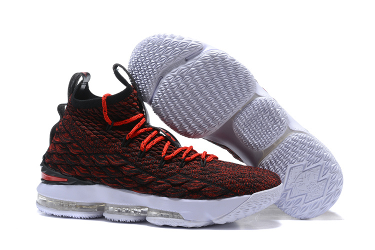 Lebron Sneakers Cheap Wholesale Nike Lebron 15 Red Black White