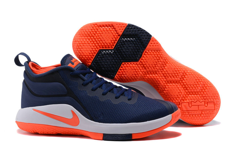 Lebron Sneakers Cheap Wholesale Nike Lebron Witness 2 Orange White Navy Blue