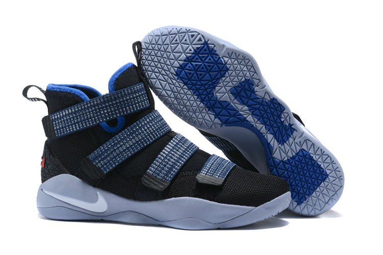 6f368ee6959 Lebron Soldier Sneakers Cheap Wholesale Nike Lebron Soldier 11 Blue Black  White