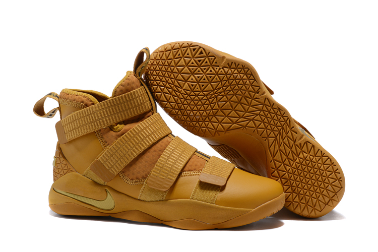 Lebron Soldier Sneakers Cheap Wholesale Nike Lebron Soldier 11 Gold
