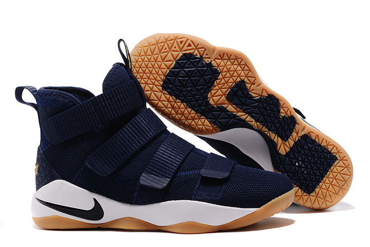 Lebron Soldier Sneakers Cheap Wholesale Nike Lebron Soldier 11 Navy Blue White