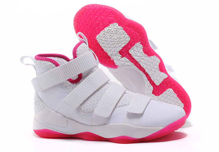 Lebron Soldier Sneakers Cheap Wholesale Nike Lebron Soldier 11 Pink White