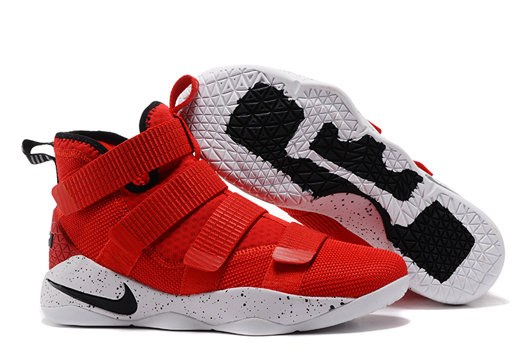 Lebron Soldier Sneakers Cheap Wholesale Nike Lebron Soldier 11 Red Black White