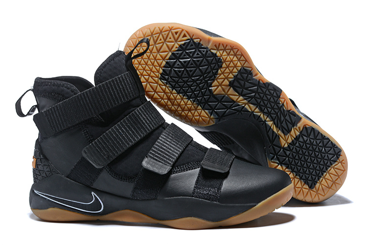 Lebron Soldier Sneakers Cheap Wholesale Nike Lebron Soldier 11 Wheat Black