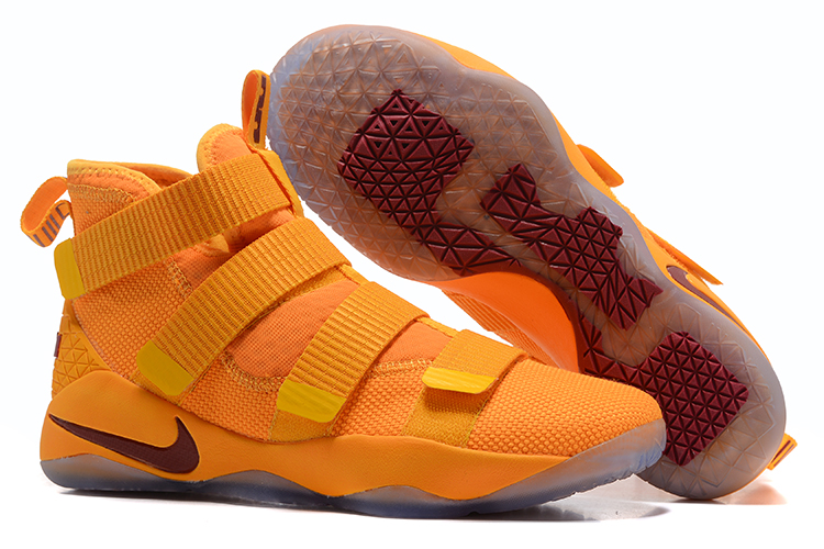 Lebron Soldier Sneakers Cheap Wholesale Nike Lebron Soldier 11 Yellow Wie Red