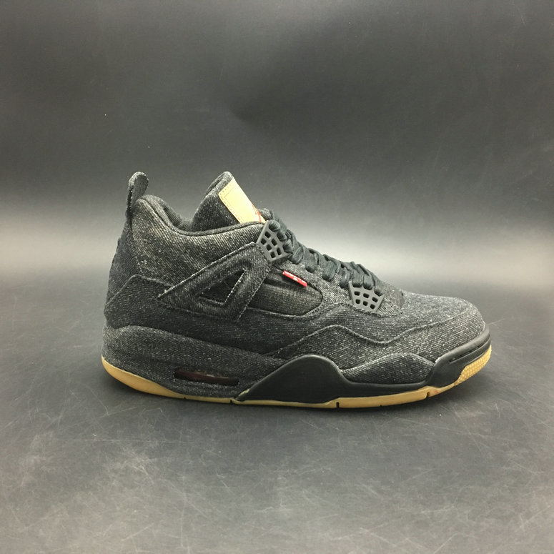 Wholesale Levis x Air Jordan 4 Black AQ9103-001 GS
