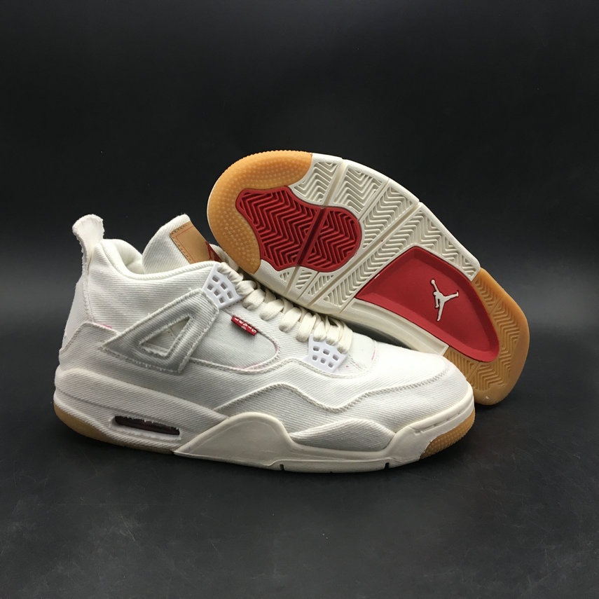 Wholesale Levis x Air Jordan 4 White AQ9103-100