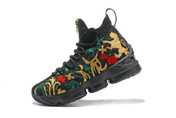 Cheap Wholesale Mens KITH x Nike LeBron 15 Kings Crown Long Live The King Black Multi-Color
