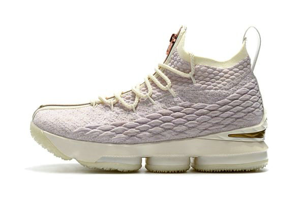 Cheap Wholesale Mens KITH x Nike LeBron 15 Rose Gold Long Live the King Basketball Shoes