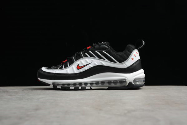 Cheap Wholesale Mens Nike Air Max 98 OG 3M White Black-Varsity Red 640744-109