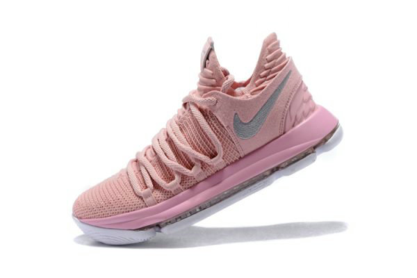 Cheap Wholesale Mens Nike KD 10 Aunt Pearl Pearl Pink White-Sail AQ4110-600