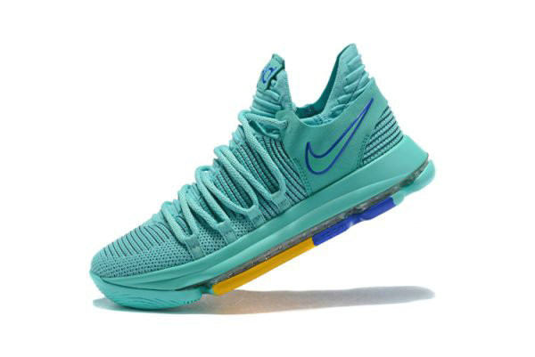 Cheap Wholesale Mens Nike KD 10 City Edition 2 Hyper Turquoise Racer Blue 897816-300