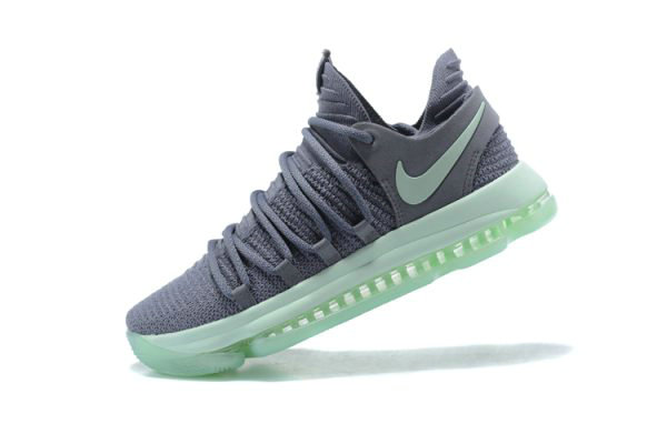 Cheap Wholesale Mens Nike KD 10 Igloo Cool Grey Igloo-White Basketball Shoes 897816-002