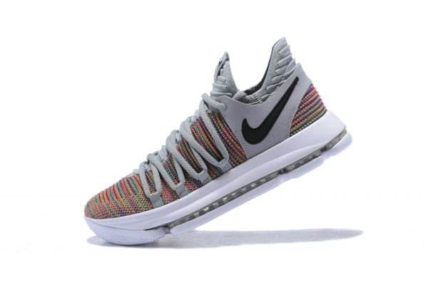 Cheap Wholesale Mens Nike KD 10 Multi-Color Black-Cool Grey-White 897815-900