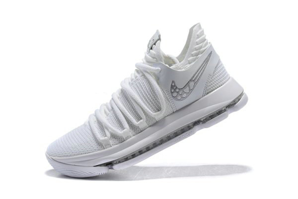 Cheap Wholesale Mens Nike KD 10 Platinum Tint Vast Grey-White Basketball Shoes 897816-009