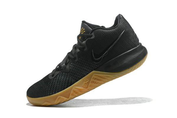 Cheap Wholesale Mens Nike Kyrie Flytrap Black Gum-Metallic Gold Free Shipping