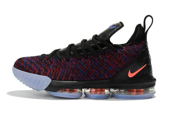 sports shoes e5d7d b810d Cheap Wholesale Mens Nike LeBron 16 Black Multicolor-Orange Basketball Shoes  For Sale