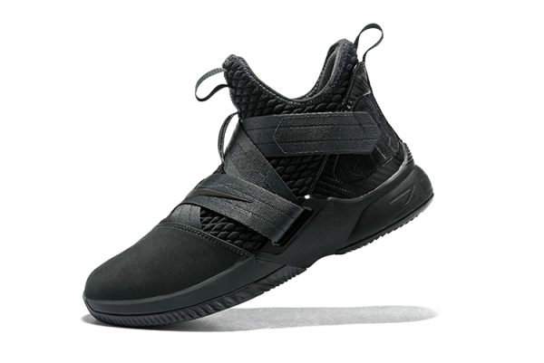 Cheap Wholesale Mens Nike LeBron Soldier 12 SFG Zero Dark Thirty Anthracite Black AO4054-002