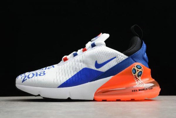 huge selection of 90013 ac8e7 Cheap Wholesale Mens Nike Max 270 FIFA World Cup Air Russia 2018 White  Racer Blue-