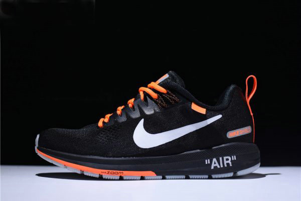 Cheap Wholesale Mens Off-White Virgil Abloh x Nike Air Zoom Structure 21 Black  Orange 42aa92bcddaa
