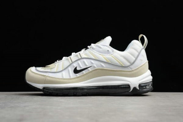 Cheap Wholesale Mens and WMNS Nike Air Max 98 Sail White Black-Fossil-Reflect Silver AH6799-102