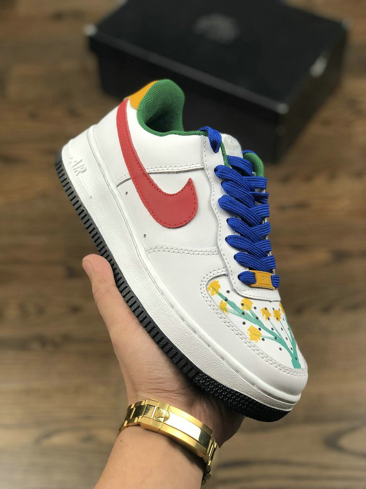 Wholesale Nike Air Force 1 07 Cxp1710 149pc Red White Yellow Blue