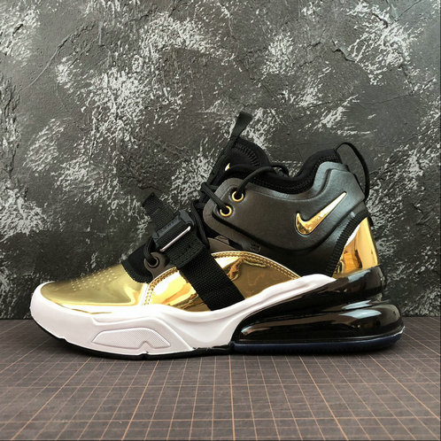 Cheap Wholesale NIKE AIR FORCE 270 CT16 QS AT5752-700 BLACK GOLD NOIR OR