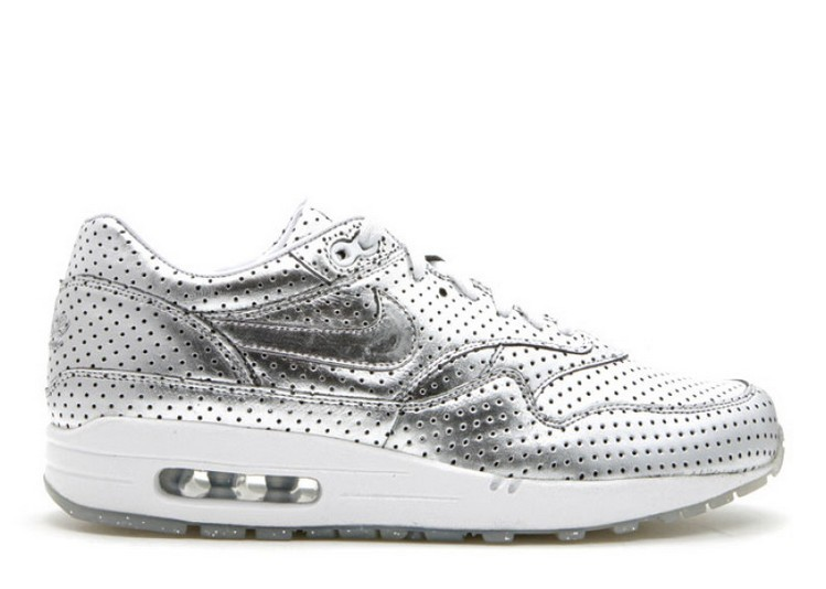 Cheap Wholesale NIKE AIR MAX 1 PREMIUM SILVER FOIL OPENING CEREMONY 318361-001 METALLIC SILVER METALLIC SILVER WHITE