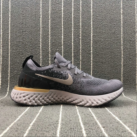 Wholesale NIKE EPIC REACT FLYKNIT AQ0067-009 DEEP PURPLE ASH BLACK GREY GOLD VIOLET FONCE GRIS