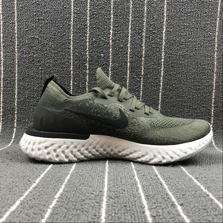 31896a3f0e76 Wholesale NIKE EPIC REACT FLYKNIT AQ0067-300 CARGO KHAKI BLACK SEQUOIA
