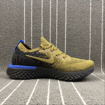 Wholesale NIKE EPIC REACT FLYKNIT AQ0067-301 DEEP GREEN GOLD BLACK BLUE VERT FONCE NOIR