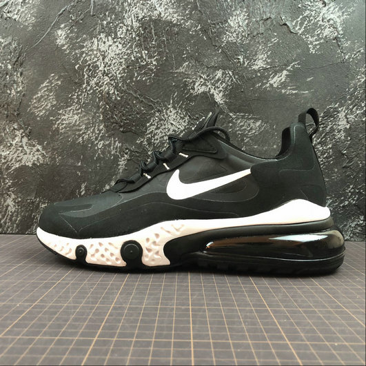 Cheap Wholesale NIKE REACT AIR MAX AQ9087-002 Black White Noir Blanc