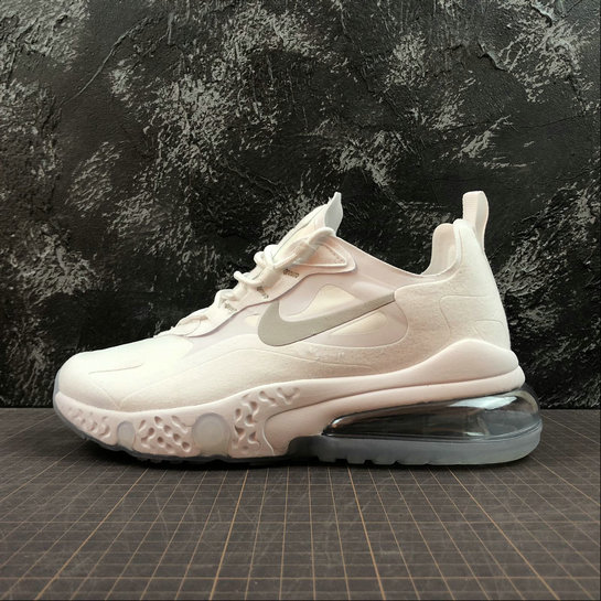 Cheap Wholesale NIKE REACT AIR MAX AQ9087-100 White Silver Blanc Argent